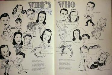 A yearbook page of the Brookline High School class of 1943.